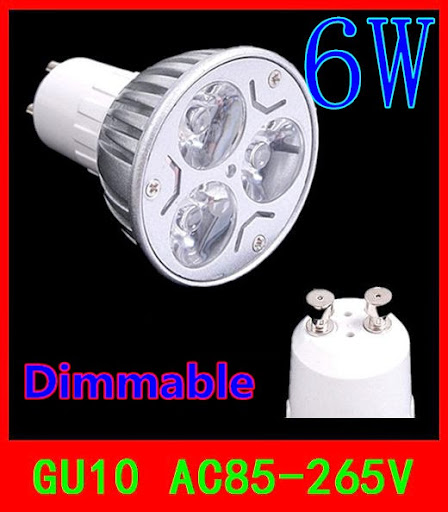 20PCS GU10 6W Dimmable 3x2W warm cool white 540LM LED L